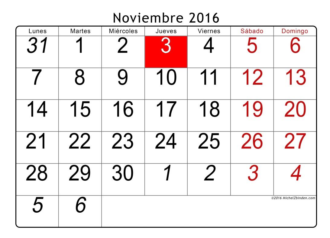 3 de noviembre-
